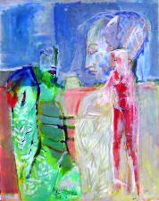 Têtes (2007) : technique mixte sur Papier   100 x 79 cm.