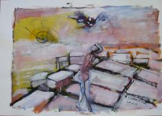 Matin (2007) : technique mixte sur Papier   42 x 60 cm.