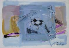 Aperçu (2007) : technique mixte sur Papier   42 x 60 cm.