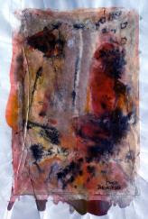 Entretien 3 (2007) : technique mixte sur Papier   46 x 29 cm.