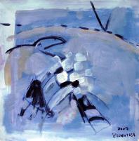 Ambassadeur (2007) : Acrylique sur Papier   33 x 33 cm.