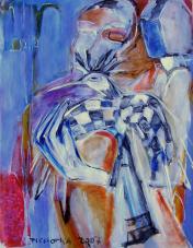 La Question (2007) : Acrylique sur Papier   65 x 50 cm.