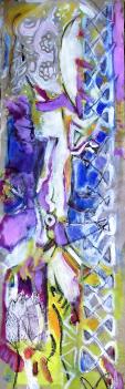 Sans Titre (2007) : technique mixte sur Papier craft   69 x 22 cm.