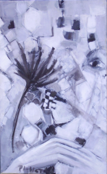 L'Entretien (2008) : Huile sur Toile   61 x 38 cm.