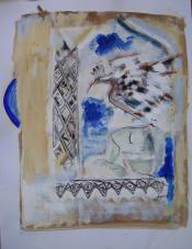 Fenêtre (2008) : technique mixte sur Papier   65 x 50 cm.