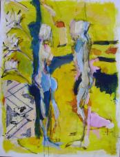 La Rencontre 4 (2008) : technique mixte sur Papier   122 x 100 cm.