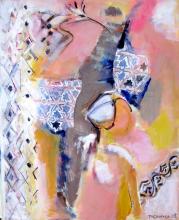 La Fenêtre (2008) : technique mixte sur Toile   115 x 95 cm.