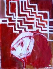 La Fenêtre (2008) : technique mixte sur Papier   65 x 50 cm.