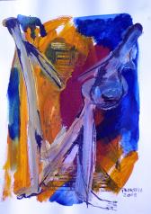 Départ (2008) : technique mixte sur Papier   32 x 24 cm.