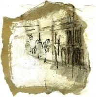 Cité 1 (2009) : technique mixte sur Papier   14 x 14 cm.