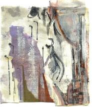 Cité 3 (2009) : technique mixte sur Papier   12 x 14 cm.