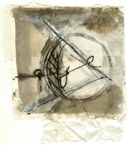 Eye 1 (2009) : technique mixte sur Papier   14 x 12 cm.