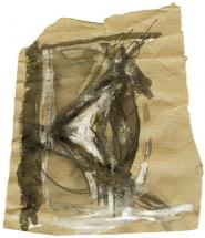 Eye 2 (2009) : technique mixte sur Papier   13 x 11 cm.