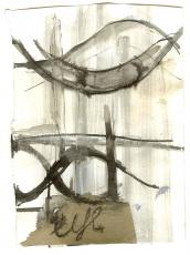 Eye 3 (2009) : technique mixte sur Papier   15 x 11 cm.
