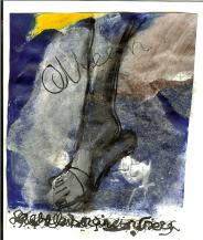 Queen 2 (2009) : technique mixte sur Papier   13 x 11 cm.