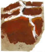 Sel (2009) : technique mixte sur Papier   13 x 11 cm.
