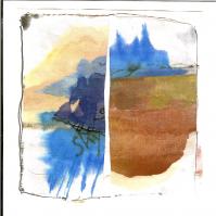 Sky 1 (2009) : technique mixte sur Papier   13 x 12 cm.