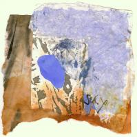 Sky 2 (2009) : technique mixte sur Papier   14 x 14 cm.