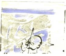 Sky 3 (2009) : technique mixte sur Papier   11 x 14 cm.