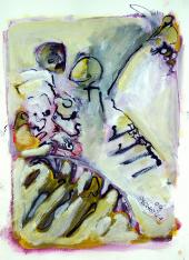 Etreinte Verte (2009) : technique mixte sur Papier   32 x 24 cm.