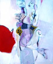 Sans Titre (2009) : Acrylique sur Papier   115 x 95 cm.