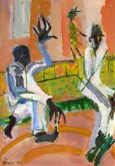 Ce N'est Pas Evident 3 (2016) : Acrylique sur Papier   110 x 75 cm.