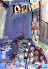 La Chambre Du Prophete (2016) : Acrylique sur Papier   110 x 75 cm.