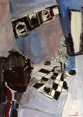 La Chambre Des Dames (2016) : Acrylique sur Papier   110 x 75 cm.