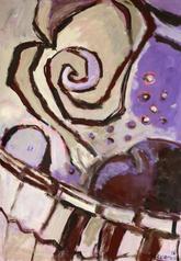 La Robe (2016) : Acrylique sur Papier   110 x 75 cm.