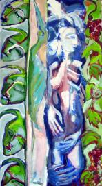 Vendanges (2011) : Acrylique sur Papier   135 x 75 cm.