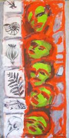Histoire Naturelle (2011) : technique mixte sur Papier craft   139 x 69 cm.