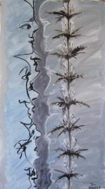 Morina Persica L. (2011) : Acrylique sur Papier   135 x 75 cm.