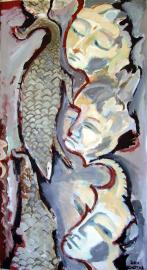 Pangolin (2011) : Acrylique sur Papier   135 x 75 cm.