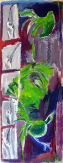 Sula Sula (2011) : Acrylique sur Papier   138 x 53 cm.