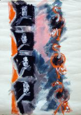 Fenêtres (2011) : technique mixte sur Papier   74 x 53 cm.