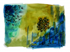 Sans Titre (2006) : technique mixte sur Papier   25 x 33 cm.