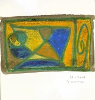 Sans titre (2009) : Craie sur Papier   28 x 21 cm.