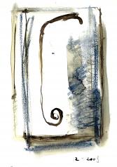 Sans titre (2009) : technique mixte sur Papier   28 x 21 cm.