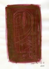 Sans titre (2010) : technique mixte sur Papier   28 x 21 cm.