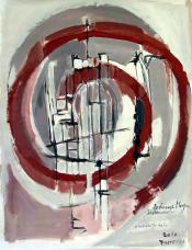 Berliner Morgen (2010) : technique mixte sur Papier   65 x 50 cm.
