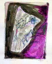 Tu ne vas quand même pas (2010) : technique mixte sur Papier   65 x 50 cm.