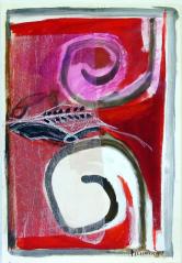 Bouc (2010) : technique mixte sur Papier   54 x 38 cm.