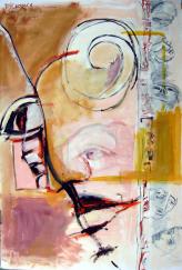 Sans Titre (2010) : technique mixte sur Papier   150 x 97 cm.