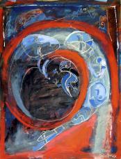 Sans Titre (2010) : technique mixte sur Papier   65 x 50 cm.