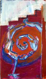 Sans Titre Sous L'Escalier (2010) : technique mixte sur Papier   100 x 58 cm.