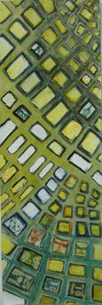Vorstadt (2000) : Acrylique sur Papier   78 x 27 cm.