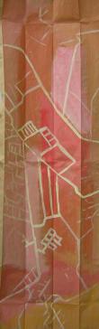 Venedig-Falte (2000) : Acrylique sur Papier   126 x 43 cm.