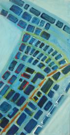 Hafen Nachts (2000) : Acrylique sur Papier   60 x 32 cm.