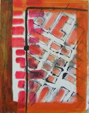 Haltestelle (2000) : technique mixte sur Papier   33 x 26 cm.
