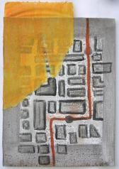 Haltestelle (2000) : technique mixte sur Papier   36 x 25 cm.
